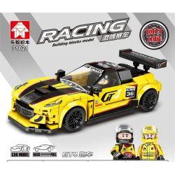 LEYI 31021 Xếp hình kiểu Lego RACING Passion Car GT4 Sports Car Back Car Xe Thể Thao GT4 301 khối