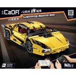 DOUBLEE CADA C51055 51055 Xếp hình kiểu Lego TECHNIC Lightning Sports Car Xe Thể Thao Tia Chớp 456 khối