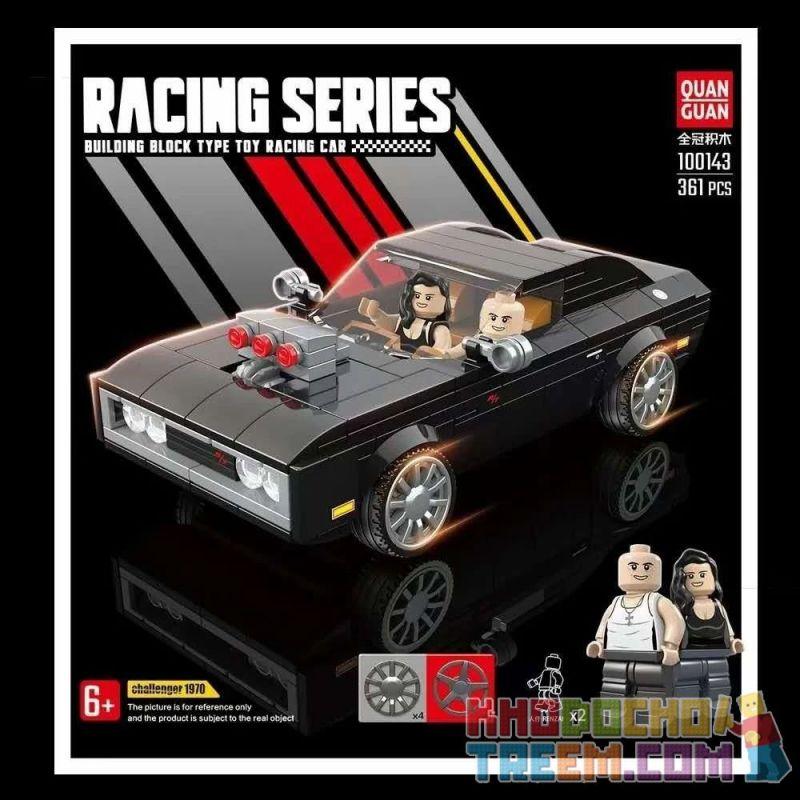 QUANGUAN QUAN GUAN 100143 Xếp hình kiểu Lego SPEED CHAMPIONS Challenger 1970 Dodge 1970 Dodge 1970. 361 khối