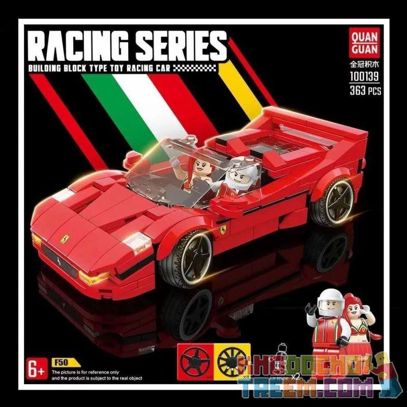 QUANGUAN QUAN GUAN 100139 Xếp hình kiểu Lego SPEED CHAMPIONS Ferrari F50 Ferrari F50. 363 khối