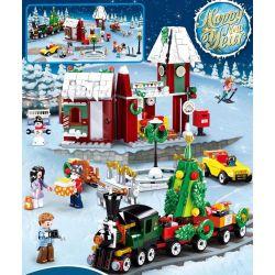 SLUBAN M38-B0887 B0887 0887 M38B0887 38-B0887 Xếp hình kiểu Lego SEASONAL Happy New Year Color Dream Christmas New Year Warm Training Station Giáng Sinh Và Năm Mới Nhà Ga Trái Tim ấm áp 565 khối