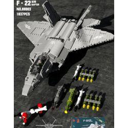 JUHANG 88003 JUHANG TECHNOLOGY 88003 Xếp hình kiểu Lego MILITARY ARMY F-22 Raptor Raptor F-22 1837 khối
