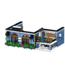 ZHEGAO QL0940 0940 Xếp hình kiểu Lego STREET VIEW Garden Hotel Khách Sạn Vườn 1316 khối