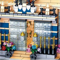 ZHEGAO QL0927 0927 Xếp hình kiểu Lego STREET VIEW Carlo Hotel Khách Sạn Carlo 2099 khối