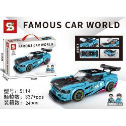 SHENG YUAN SY 5114 Xếp hình kiểu Lego RACERS Famous Car World Famous Car Mitsubishi EVO Mitsubishi Evo. 337 khối