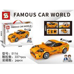SHENG YUAN SY 5116 Xếp hình kiểu Lego RACERS Famous Car World Famous Car Toyota Fourth Generation Supra Nawang Toyota Supra Bull Demon Thế Hệ Thứ Tư 337 khối