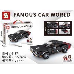 SHENG YUAN SY 5117 ZHEGAO 5117 Xếp hình kiểu Lego RACERS Famous Car World Famous Car Dodge 1970 Challenger-332 Sports Car Xe Thể Thao Dodge 1970 Challenger-332 322 khối