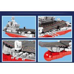 SEMBO 202074 Xếp hình kiểu Lego MILITARY ARMY PLA' Navy Shandong The First Domestic Aircraft Carrier Shandong Ship Q Version Tàu Sân Bay Nội địa đầu Tiên Phiên Bản Shandong Ship Q 417 khối