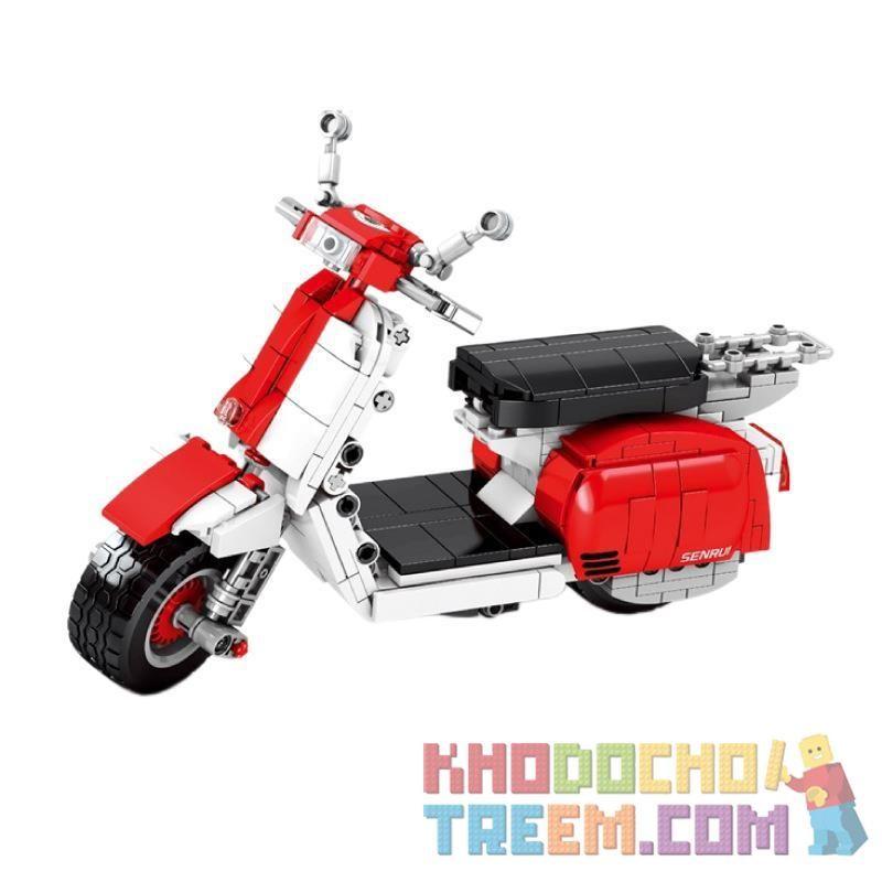 SEMBO 701406 Xếp hình kiểu Lego TECHNIC Little Sheep Motorcycle Xe Máy Cừu Nhỏ 455 khối