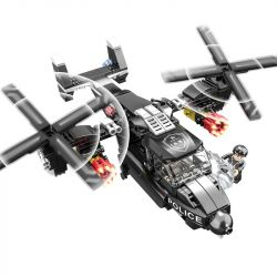 CAYI 1574 Xếp hình kiểu Lego SWAT SPECIAL FORCE Osprey Helicopter AR New Police Story Fishwell Helicopter Trực Thăng Osprey 260 khối