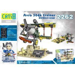 CAYI 2262 Xếp hình kiểu Lego NATIONAL WEAPON Avro 504k Trainer Country Of The Country Aphdo 504K Coach Machine Huấn Luyện Viên Aphrodite 504K 405 khối