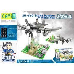 CAYI 2264 Xếp hình kiểu Lego NATIONAL WEAPON JU-87G Stuka Bomber Country Of The Country JU-87g Stark Bomber Máy Bay Ném Bom JU-87G Stuka 410 khối