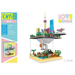 CAYI 3015 Xếp hình kiểu Lego FRIENDS Love Word City Heart Cloud Building Xây Dựng đám Mây. 1290 khối