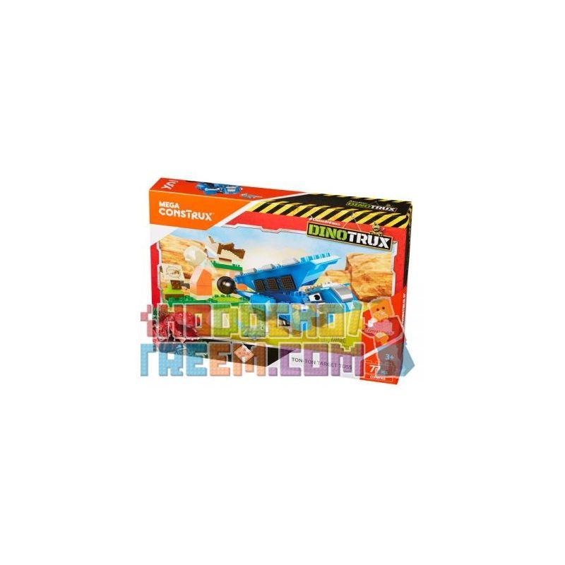 MEGA BLOKS DXW46 Xếp hình kiểu Lego DINOTRUX Ton Ton Target Toss Dinosaur Truck Hailongton Hailongton. 77 khối