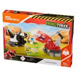 MEGA BLOKS DXW47 Xếp hình kiểu Lego DINOTRUX Dinosaur Truck Crater Rumble Miệng Núi Lửa ầm ầm 101 khối