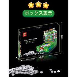 SUPER 18K K104 Xếp hình kiểu Lego CREATOR Coin Pusher Electric Coin Machine Máy đẩy Tiền điện 2980 khối