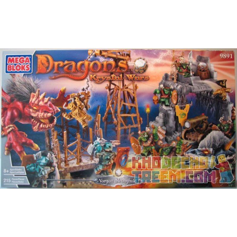 MEGA BLOKS 9891 Xếp hình kiểu Lego Vorgan Stronghold Vorgan Camp Căn Cứ Vorgan 215 khối