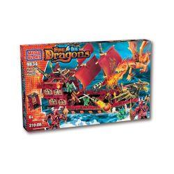 MEGA BLOKS 9834 Xếp hình kiểu Lego Fyren Sea Phoenix Warship Fyren Sea Phoenix Warcraft Fyren Biển Phoenix Warcraft 210 khối