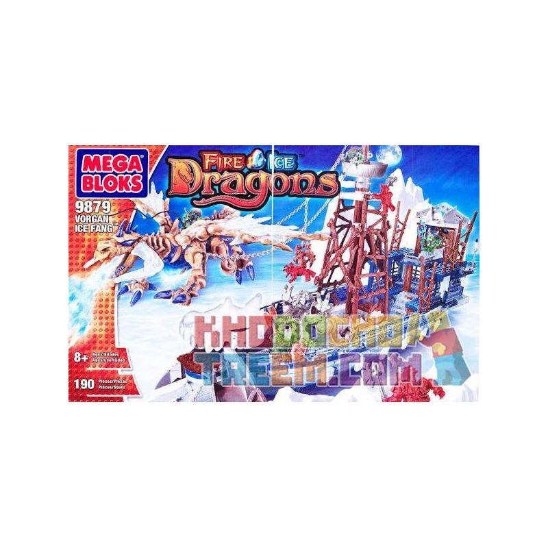 MEGA BLOKS 9879 Xếp hình kiểu Lego Vorgan Ice Fang 冰牙 Quy Trình 冰 牙 198 khối