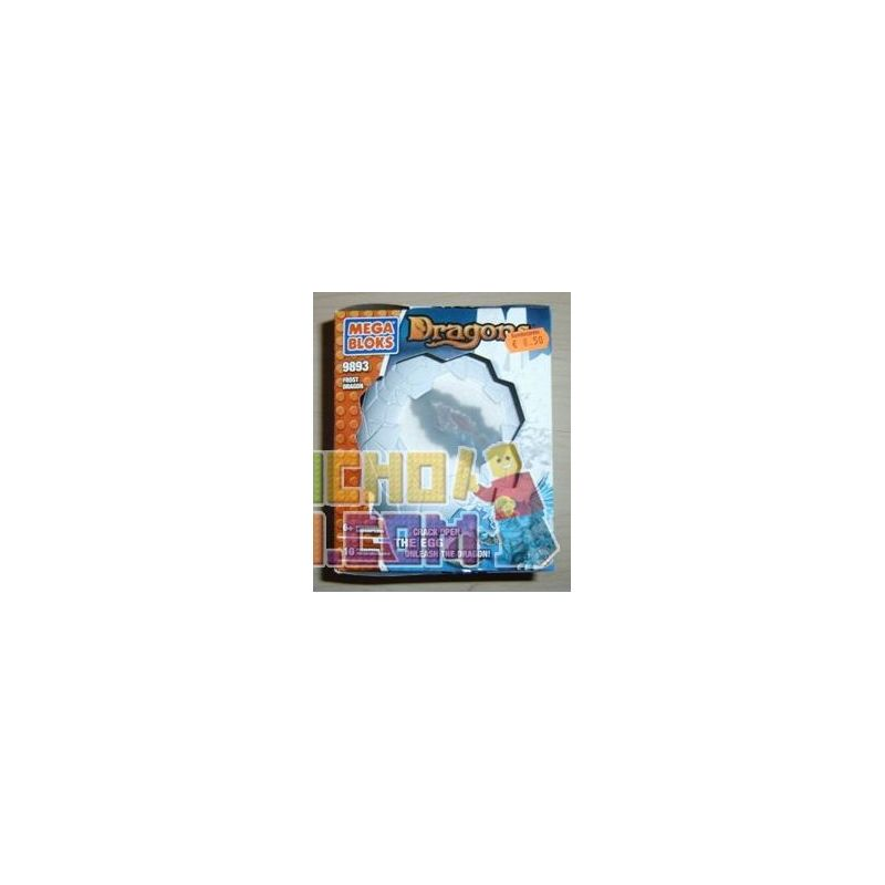 MEGA BLOKS 9893 Xếp hình kiểu Lego Frost Dragon Rồng Băng 10 khối