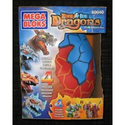 MEGA BLOKS 60040 Xếp hình kiểu Lego Giant Dragon Egg Dragon's Egg Trứng Rồng 40 khối
