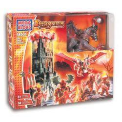 MEGA BLOKS 98001 Xếp hình kiểu Lego Fire Ghost Dragon Flame Ghost Dragon Rồng Lửa 50 khối