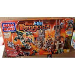 MEGA BLOKS 9889 Xếp hình kiểu Lego Portal Of Fire Flame Door Cổng Lửa 170 khối