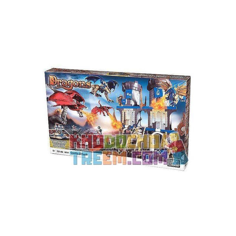 MEGA BLOKS 9414 Xếp hình kiểu Lego CASTLE Castle Attack Tấn Công Lâu đài 229 khối
