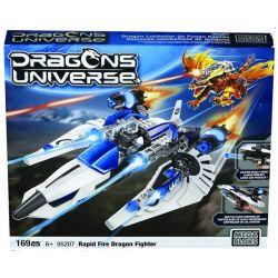 MEGA BLOKS 95207 Xếp hình kiểu Lego Rapid Fire Dragon Fighter Fun Fire Dragon Fighting Máy Bay Chiến đấu Rồng Lửa Nhanh 169 khối