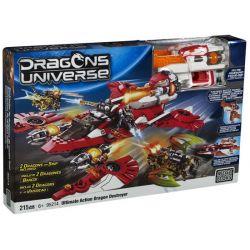 MEGA BLOKS 95214 Xếp hình kiểu Lego Ultimate Action Dragon Destroyer Ultimate Long Destroyer Kẻ Hủy Diệt Rồng Tối Thượng 215 khối