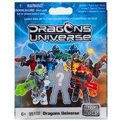 MEGA BLOKS 95102U Xếp hình kiểu Lego Dragons Universe - Series 1 Blind Pack Dragon Height - Blind Bag Season 1 Chiều Cao Rồng - Túi Mù Mùa 1 3 khối