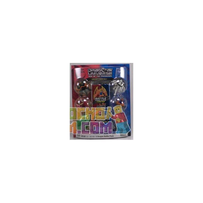 MEGA BLOKS 95106 Xếp hình kiểu Lego 5 Dragon Battle Pack 5 Dragon Battle Bag Gói 5 Trận Chiến Rồng 44 khối