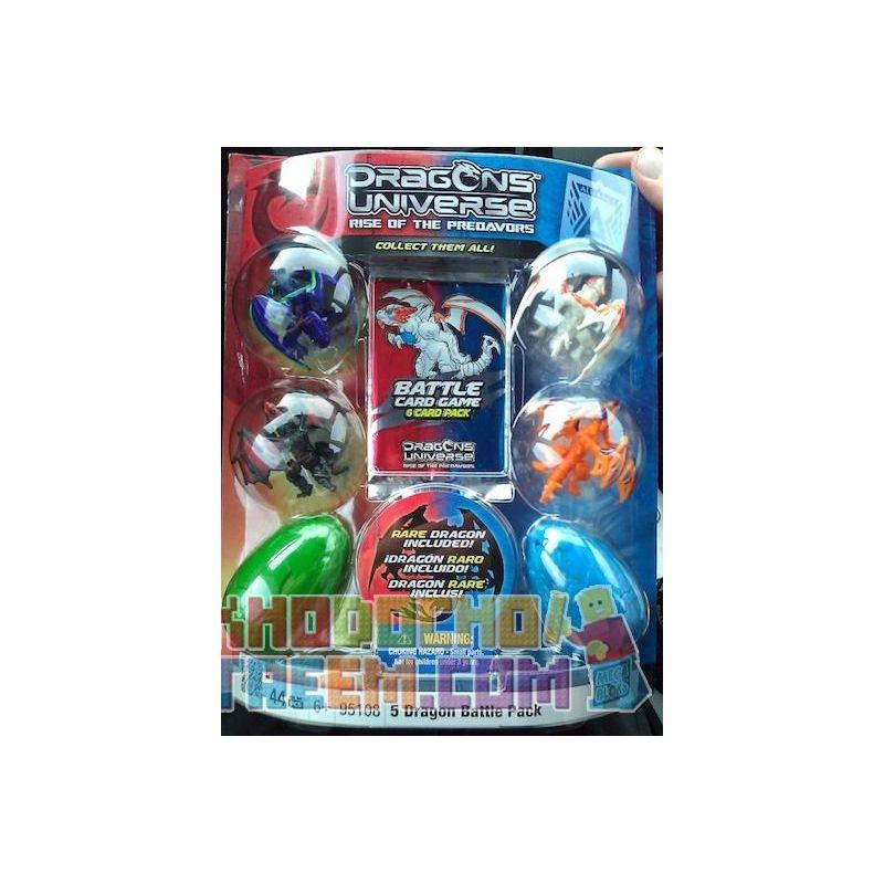 MEGA BLOKS 95108 Xếp hình kiểu Lego 5 Dragon Battle Pack 5 Dragon Battle Bag Gói 5 Trận Chiến Rồng 44 khối