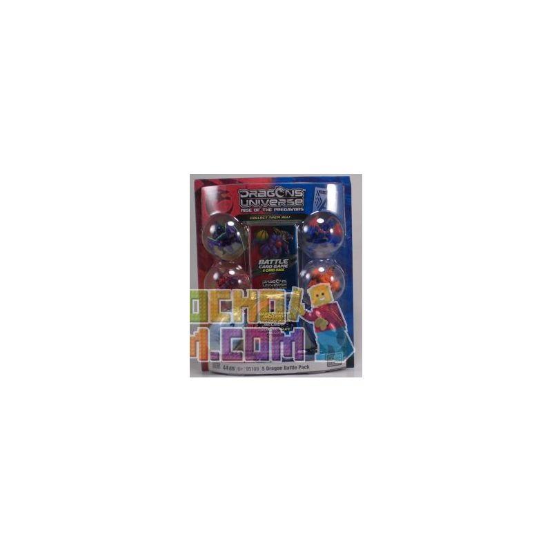 MEGA BLOKS 95109 Xếp hình kiểu Lego 5 Dragon Battle Pack 5 Dragon Battle Bag Gói 5 Trận Chiến Rồng 44 khối