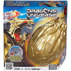 MEGA BLOKS 95135 Xếp hình kiểu Lego Goldrage Vàng 23 khối