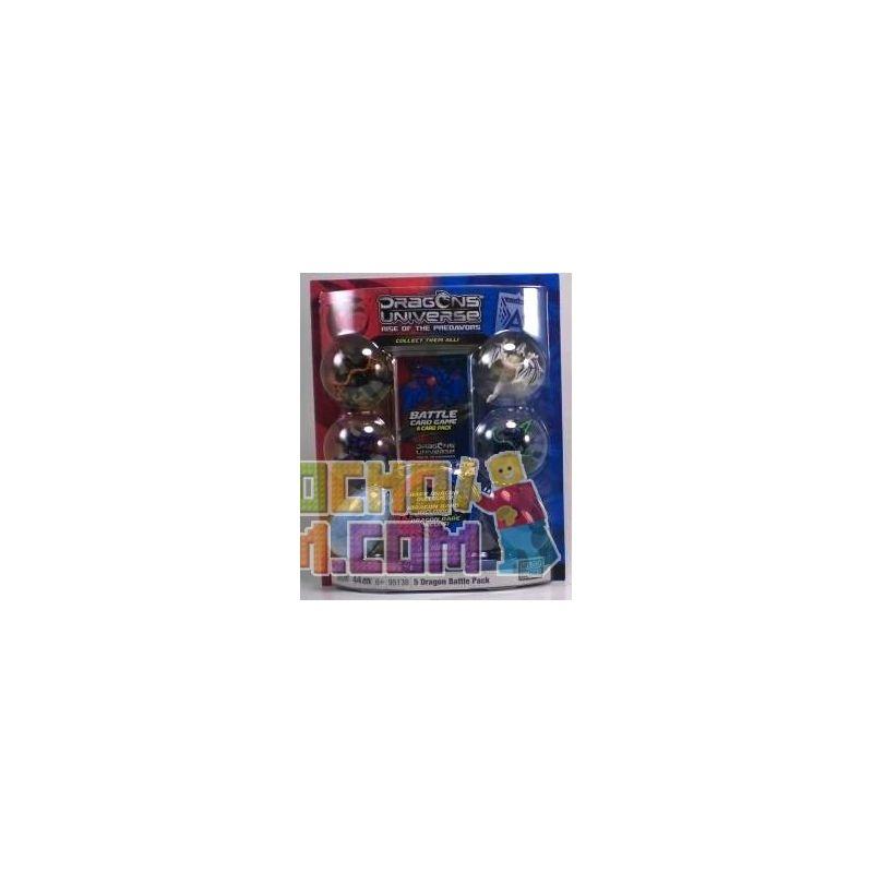 MEGA BLOKS 95138 Xếp hình kiểu Lego 5 Dragon Battle Pack 6 5 Dragon Battle Bag 6 5 Túi Chiến đấu Rồng 6 44 khối