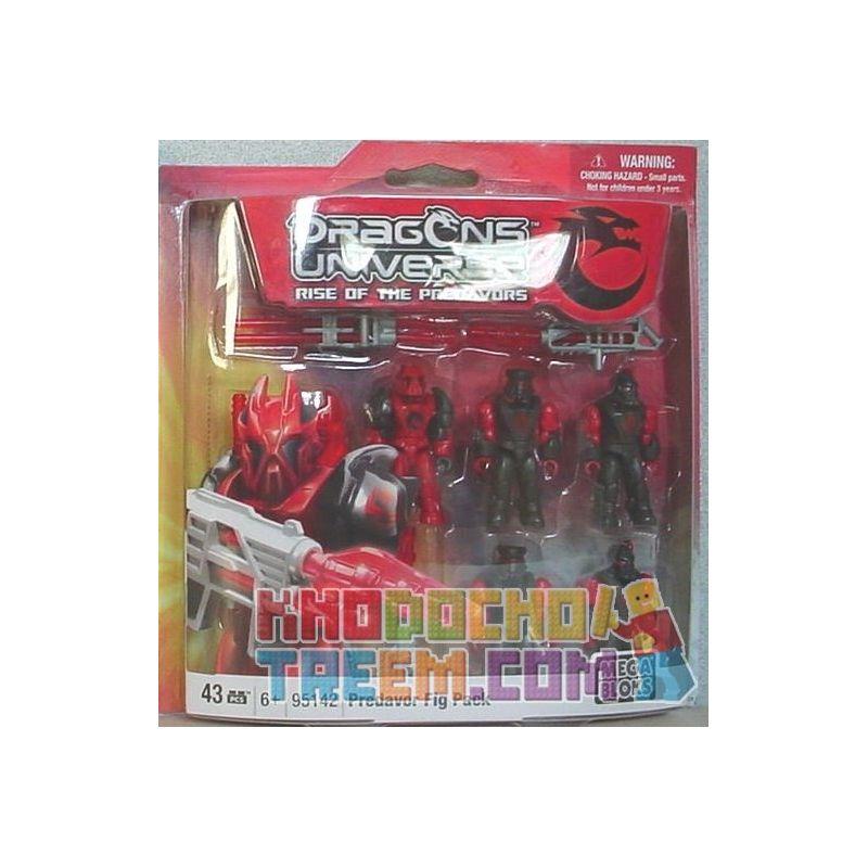 MEGA BLOKS 95142 Xếp hình kiểu Lego Predavors Fig Pack Primedors Fig Pack. 43 khối