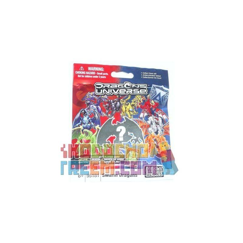 MEGA BLOKS 95181 Xếp hình kiểu Lego Swarm Dragons Swarm Những Câu Chuyện Về Rồng