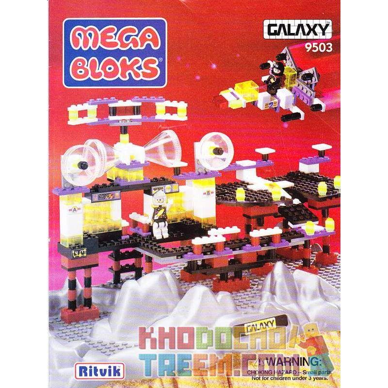 MEGA BLOKS 9503 Xếp hình kiểu Lego SPACE Space Station Trạm Không Gian 397 khối