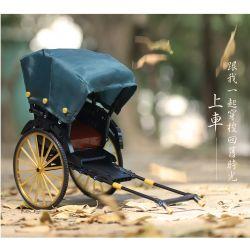 ACHKO 50014 Xếp hình kiểu Lego TECHNIC Gold Rickshaws Old Shanghai Yellow Cheap Xe Kéo Thượng Hải Cũ 347 khối