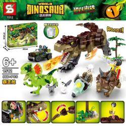 SHENG YUAN SY 1512 Xếp hình kiểu Lego JURASSIC WORLD Dinosaur World Tyrant Khủng Long Bạo Chúa 988 khối