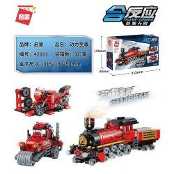 Enlighten 42101 Qman 42101 KEEPPLEY 42101 Xếp hình kiểu Lego CREATOR 3 IN 1 Trans-Combo Reaction Power Supreme Quyền Lực Tối Cao 305 khối