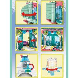 SX 3060 Xếp hình kiểu Lego FROZEN Dream Ice Snow Castle Lâu đài Băng Tưởng Tượng 943 khối