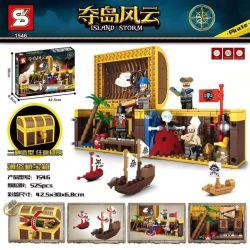 SHENG YUAN SY 1546 Xếp hình kiểu Lego PIRATES OF THE CARIBBEAN Island Storm Island Pirate Treasure Chest Rương Kho Báu Cướp Biển 526 khối