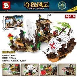 SHENG YUAN SY 1545 Xếp hình kiểu Lego PIRATES OF THE CARIBBEAN Island Storm 骷髅 Island Adventure Cuộc Phiêu Lưu Trên Đảo đầu Lâu 471 khối