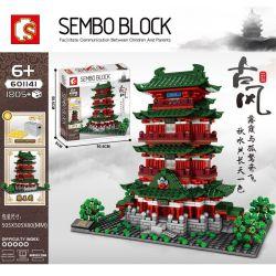 SEMBO 601141 Xếp hình kiểu Lego Pavilion Of Prince Teng、Tengwang Pavilion Chinese Famous Architecture Jiangxi Nanchang Teng Wang Pavilion Giang Tây Nanchang Teng Wang Gian Hàng 1805 khối
