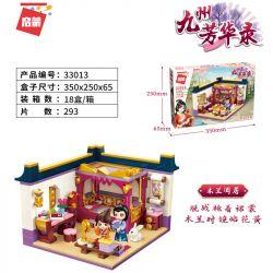 Enlighten 33013 Qman 33013 KEEPPLEY 33013 Xếp hình kiểu Lego FAIRY SWORDPLAY Kyushu Fanghua Magnolia Magnolia. 293 khối