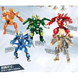 QIZHILE 31015-01 31015-02 31015-03 31015-04 31015-05 Xếp hình kiểu Lego JURASSIC WORLD Transform Series Dinosaur Higher Robot 5 Deputy Dragon, Jianlong, Overlon Dragon, Night Dragon, Organ 5 Loại Robo