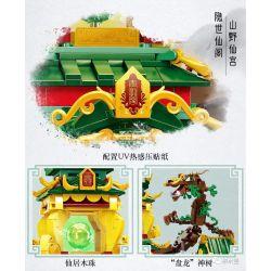 SLUBAN M38-B0936 B0936 0936 M38B0936 38-B0936 Xếp hình kiểu Lego FAIRY SWORDPLAY Qinglong Pavilion Tòa án Thanh Long 2200 khối
