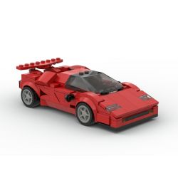 PanlosBrick 666022 Panlos Brick 666022 REBRICKABLE MOC-40934 40934 MOC40934 Xếp hình kiểu Lego SPEED CHAMPIONS Lamborghini Countach Lamborghini Countach. 305 khối